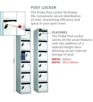 Post Room or Mail Room or Reception Lockers
